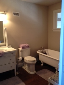 House Photo - Guest Bathroom with Clawfoot Tub