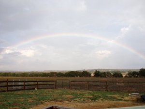 Farm Photo - Rainbow over the farm