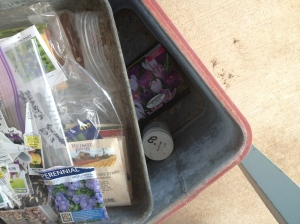 Porch Photo - Storing seeds