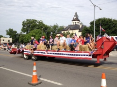Parade Photo - Patriotic people and pooch