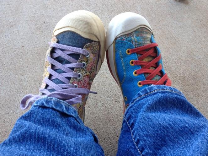 Farmtastic Photo - Mismatched farm shoes