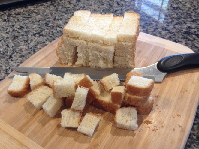 Recipe Photo - Bread cut into cubes