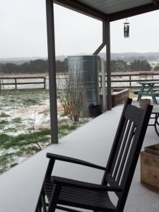 Farm Photo - Snow covered porch