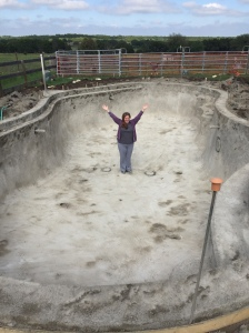 Farm Photo - Digging of the pool
