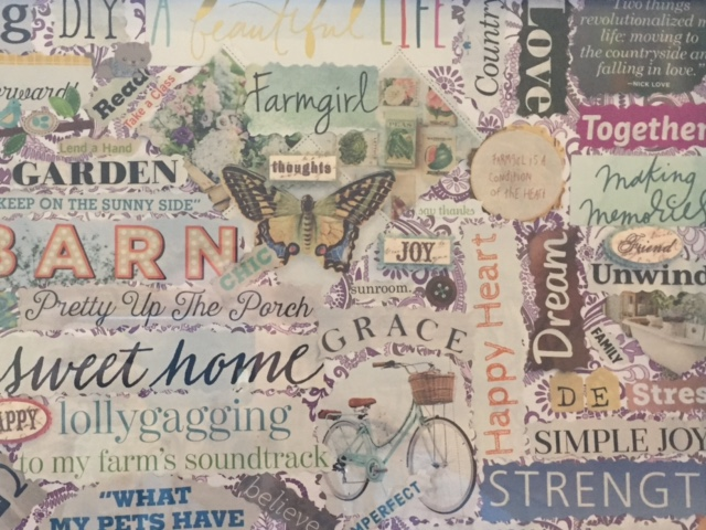 My Farmtastic Life - Vision Board Up Close