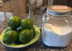 My Farmtastic Life Recipe - Limeade Ingredients