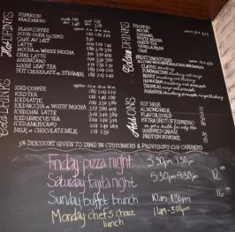 My Farmtastic Life - 2nd Street Provisions Menu Chalkboard